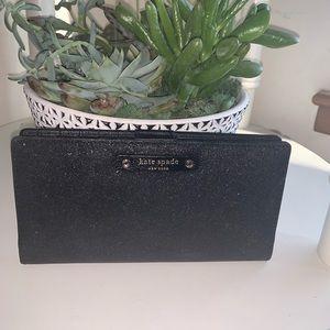 Kate Spade black sparkle wallet